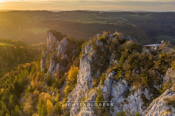 Sonnenuntergang im Jura