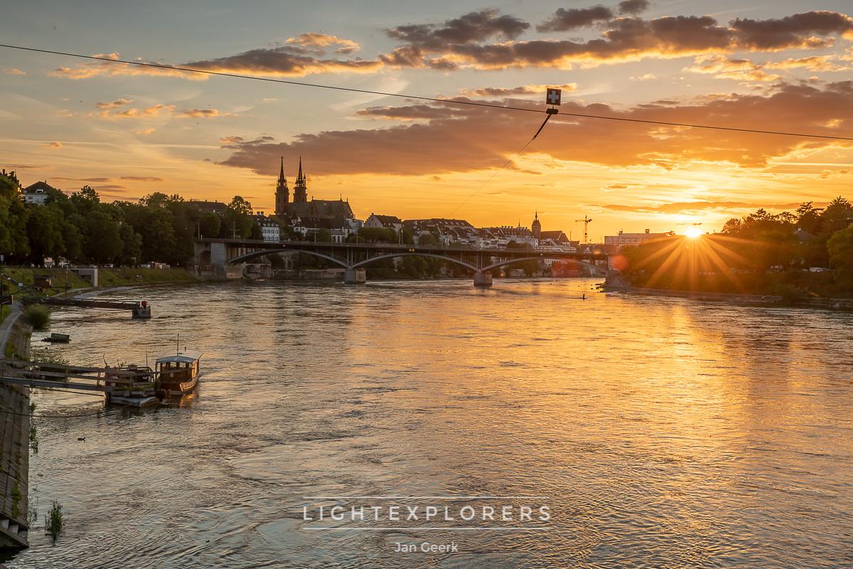 Basel Sonnenuntergang