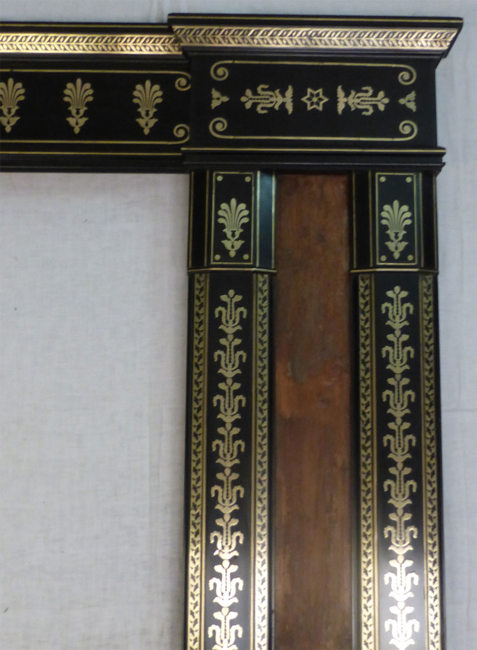 Brass and Ebony Mirror Frame.