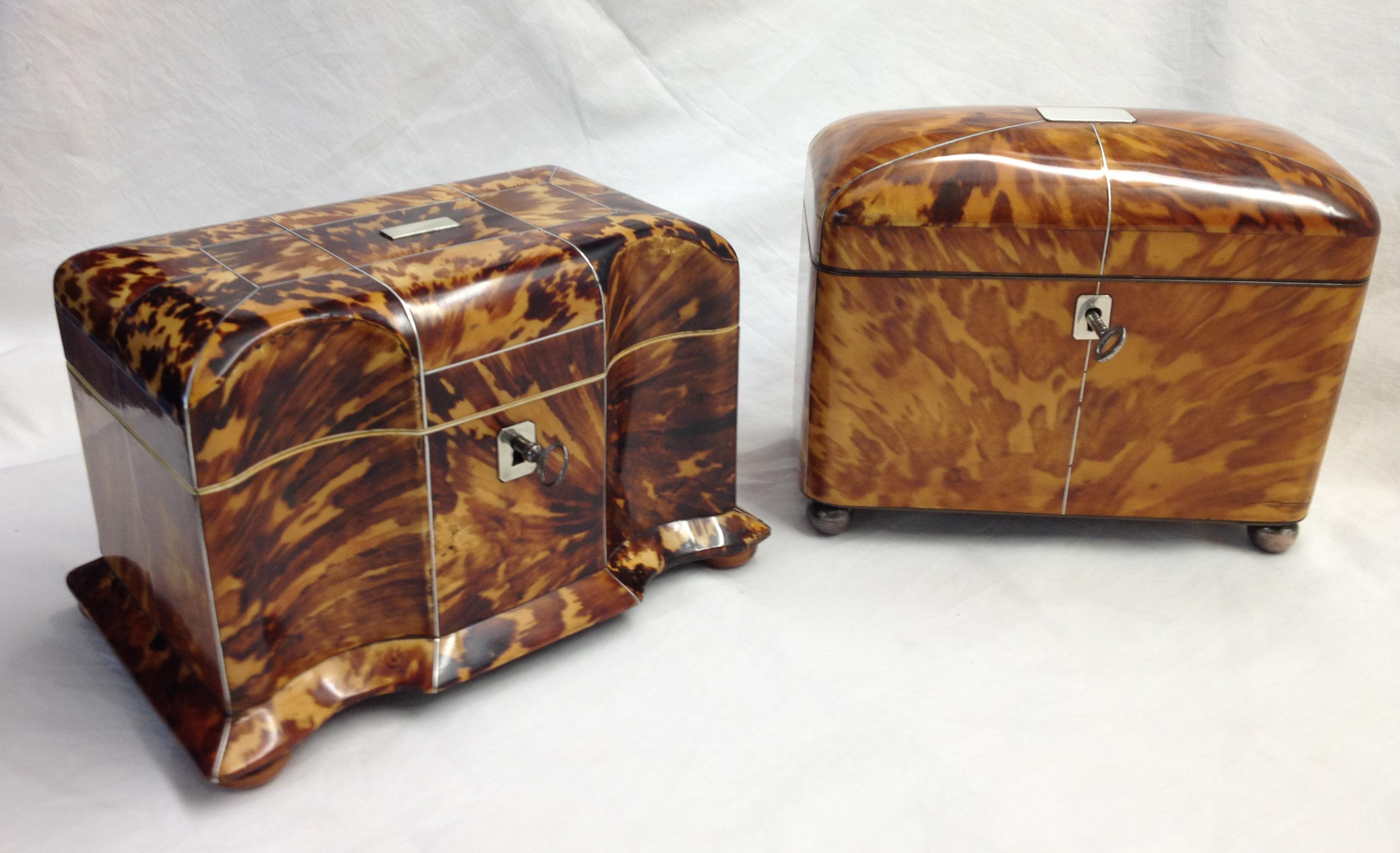 Tortoiseshell Tea Caddys