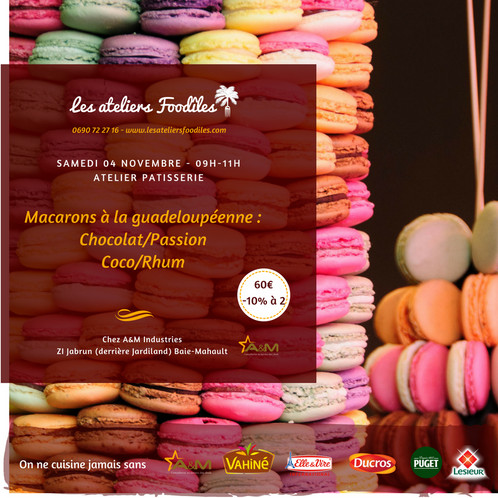 Atelier Macarons Les Ateliers Foodîles Cours De Cuisine En - Cours de cuisine en guadeloupe