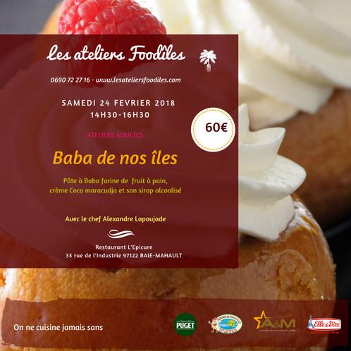 Atelier Pâtisserie Avec Alexandre Lapoujade Les Ateliers - Cours de cuisine en guadeloupe