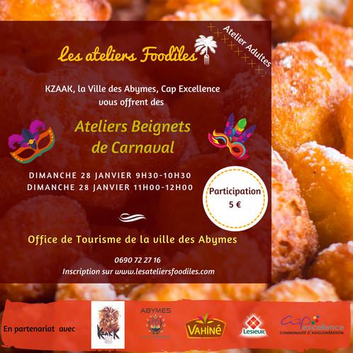 Atelier Beignets Dimanche à H Les Ateliers Foodîles - Cours de cuisine en guadeloupe