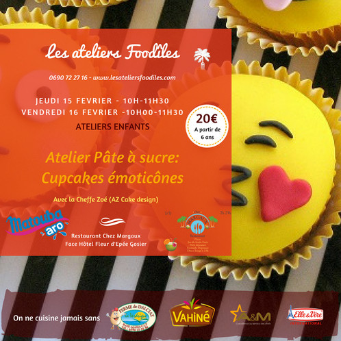 Atelier Cake Design Emoticônes Les Ateliers Foodîles Cours De - Cours de cuisine en guadeloupe