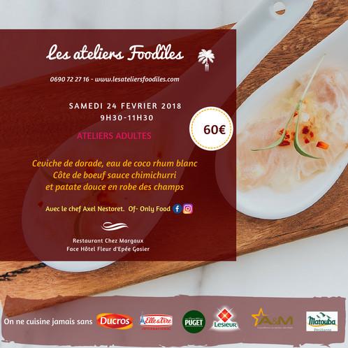 Atelier Cuisine Axel Nestoret Les Ateliers Foodîles Cours De - Cours de cuisine en guadeloupe