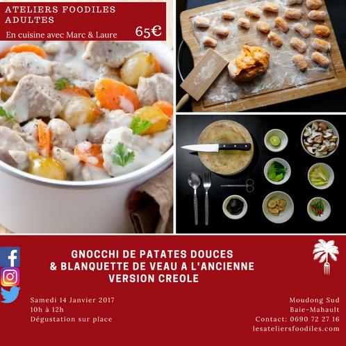 atelier adulte: samedi 14 janvier | les ateliers foodîles - cours ... - Cours De Cuisine En Guadeloupe