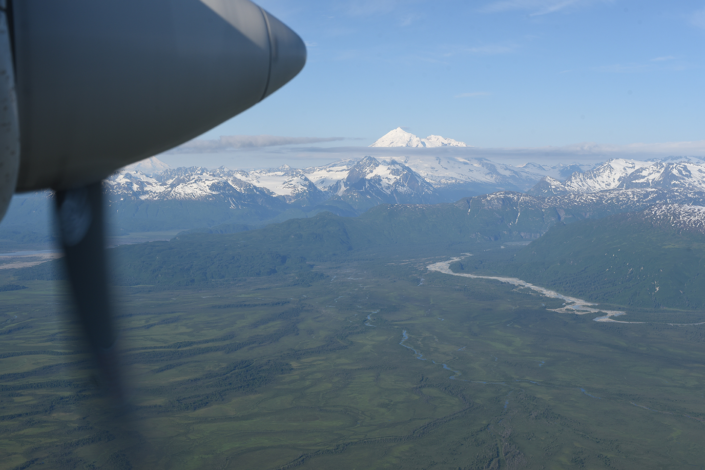 View of Alaska en route to Camp