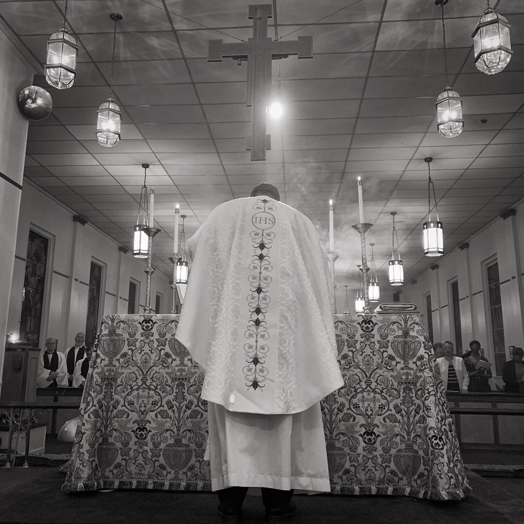 The Bishop at the Altar