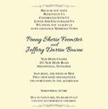 Penny wedding invitation 4.5x6.5 TO EDIT