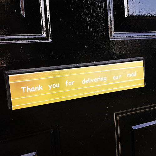 Letter box thank you for our mail vinyl