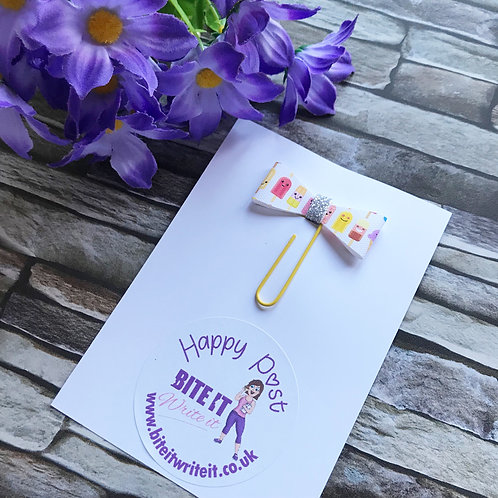 1 x Lollypop - Bow Paper Clips