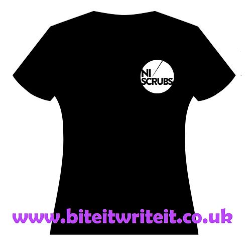 Ladies V-Neck - NI Scrubs Small Logo