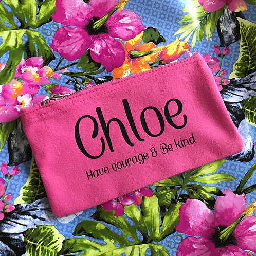 Pink Pencil Case - Any Text