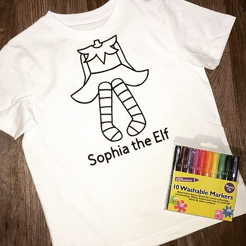 Elf T-Shirt - Christmas Colour in T-Shirt