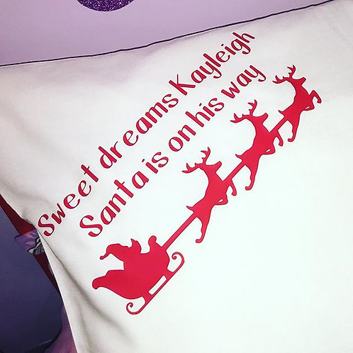 1 x Christmas Pillow Personalised with any name