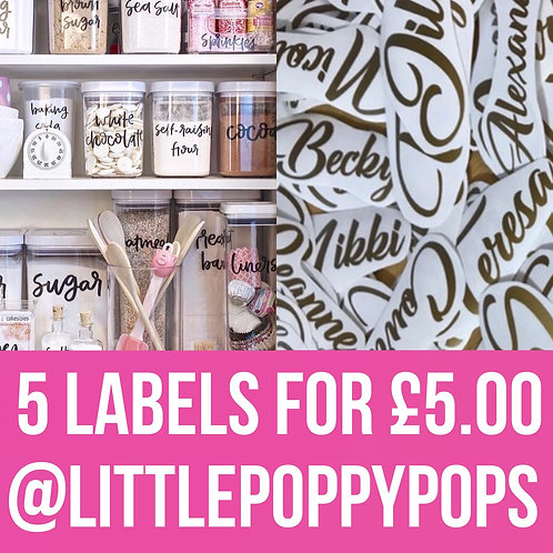 5 labels for £5 - Personalised