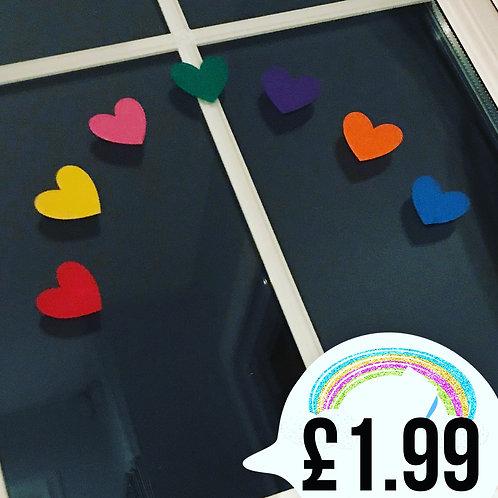 Rainbow heart window Vinyl