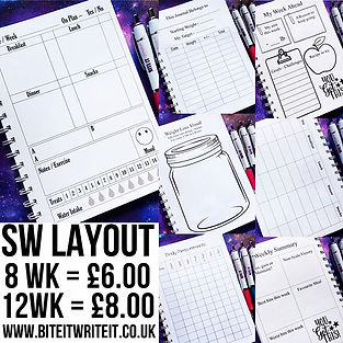 Slimming world layout__8 weeks journal -