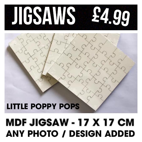 Jigsaw - 17x17cm - Any image and text added