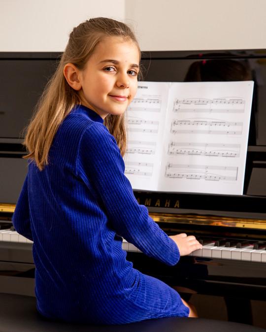 Pianoportret voor catalogus