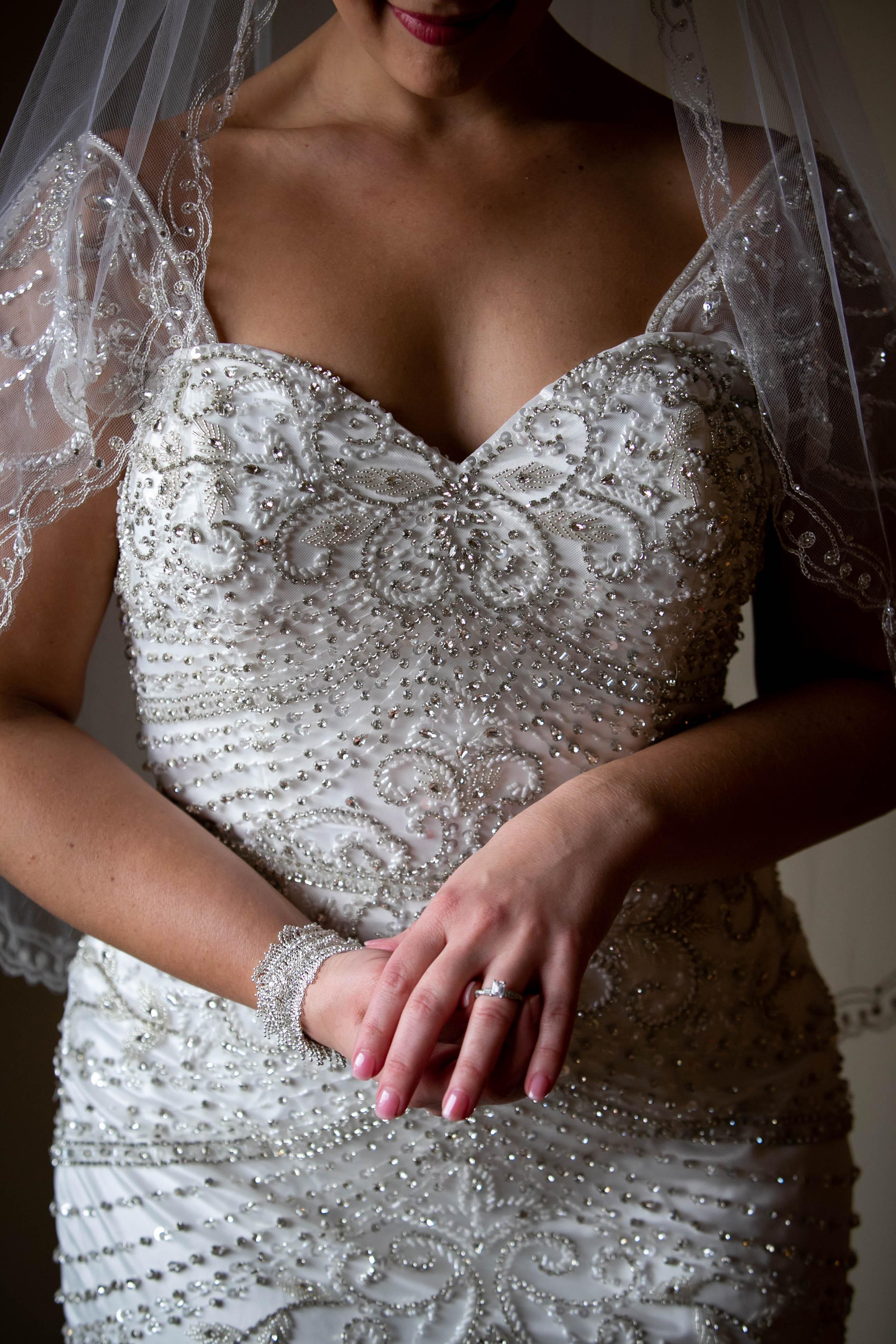 Bride Prep: Bride adjusts her Engagement Ring
