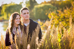 Golden Hour Engagement Photo