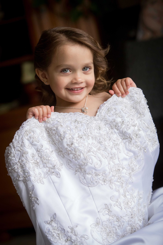 Flower Girl in Brides Dress
