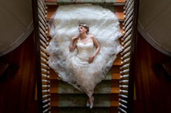 Bride Portrait: Laying on Stairs