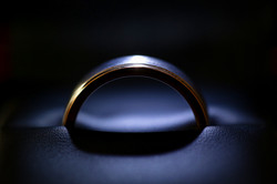 Grooms Ring in Lighted Box
