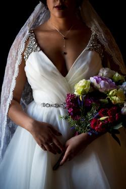 Bride's Flowers Detail Portrait
