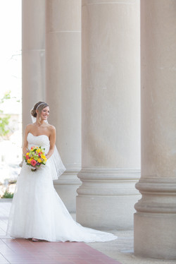 Bride Portrait by Pillars