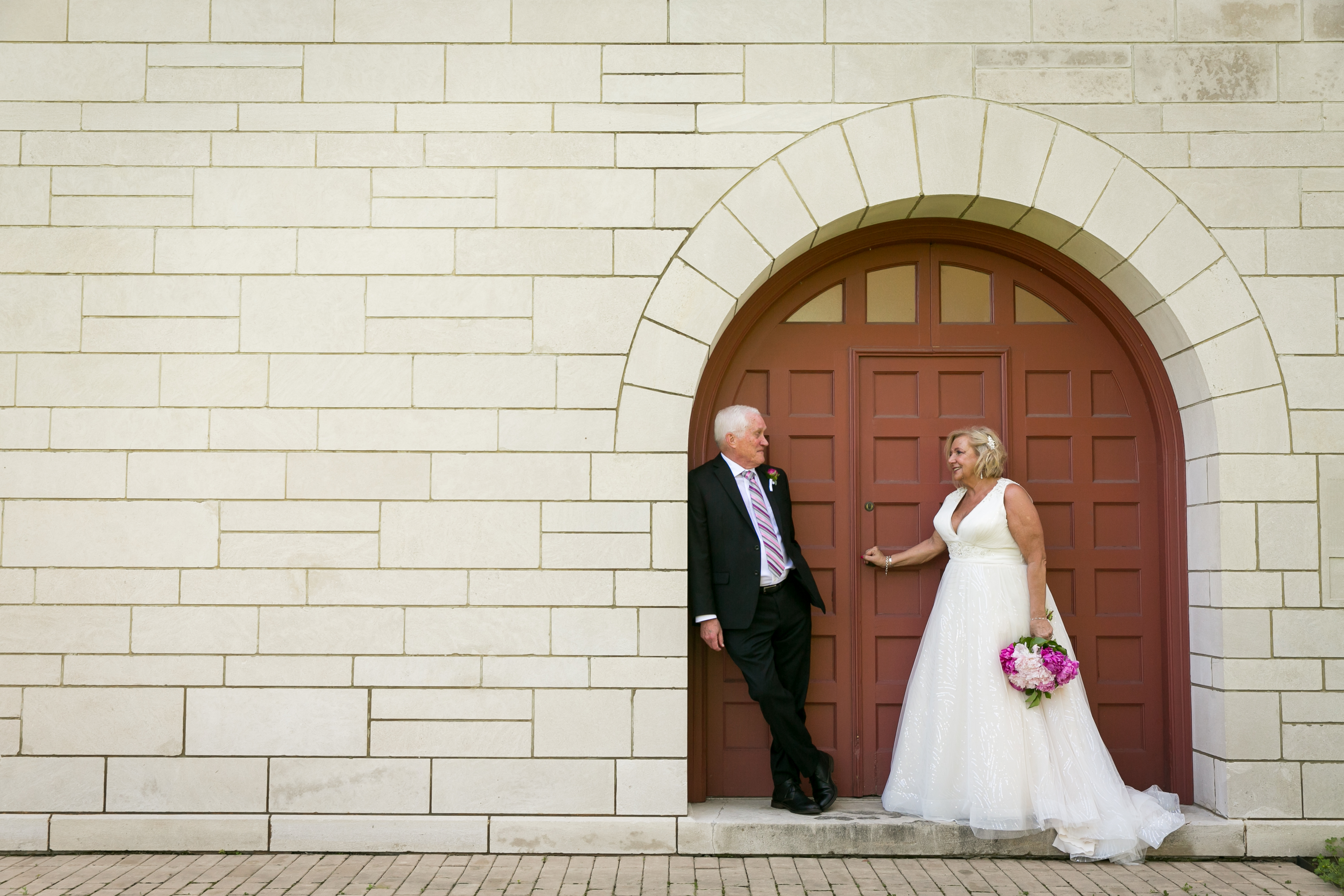 Mature Bride and groom
