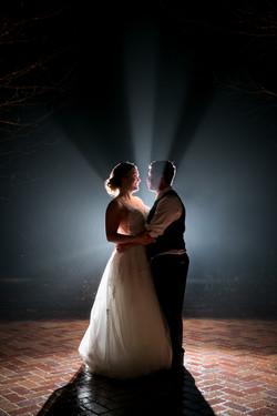 Foggy Night Wedding Portrait