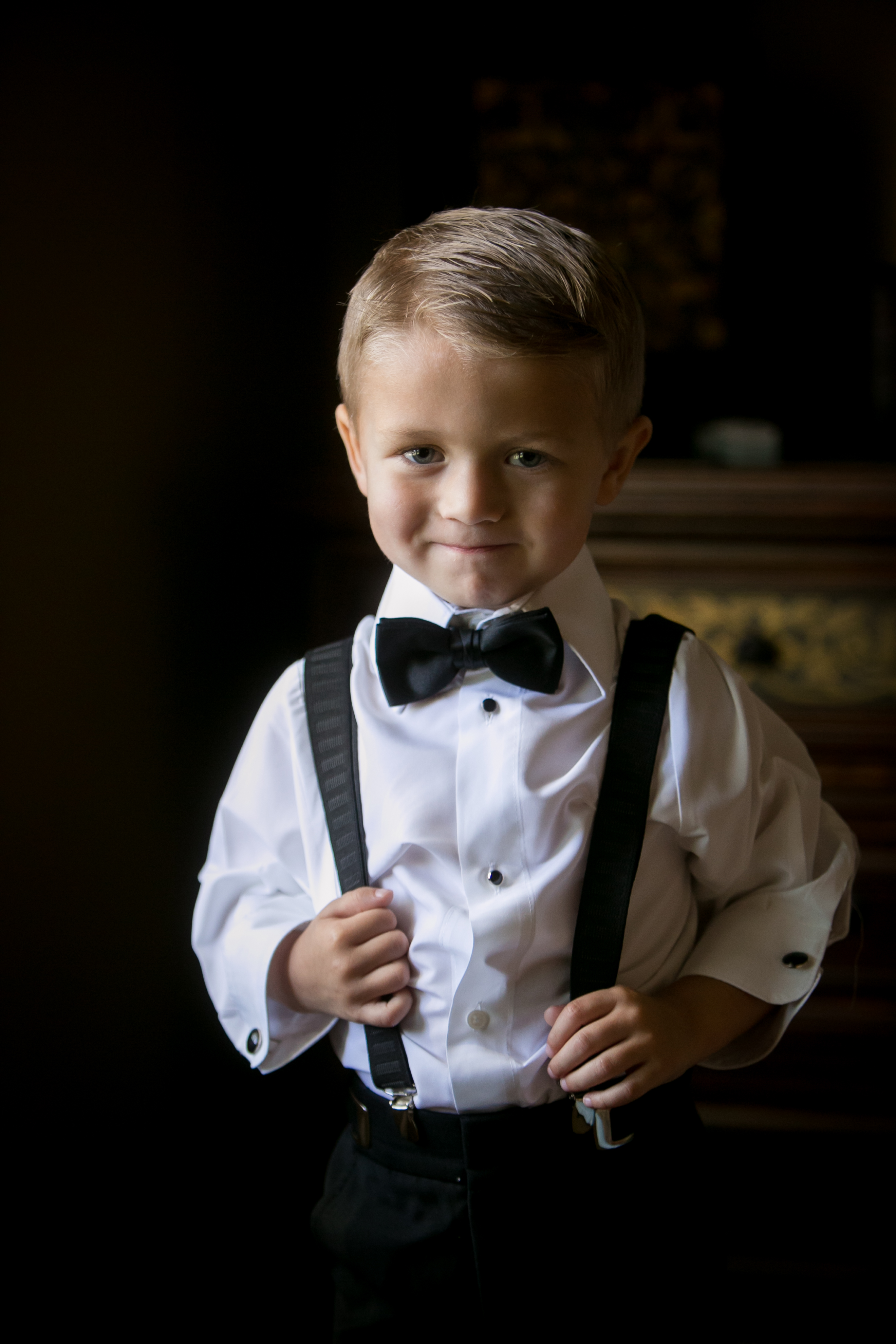 Ring Bearer in Bow Tie and Bracers