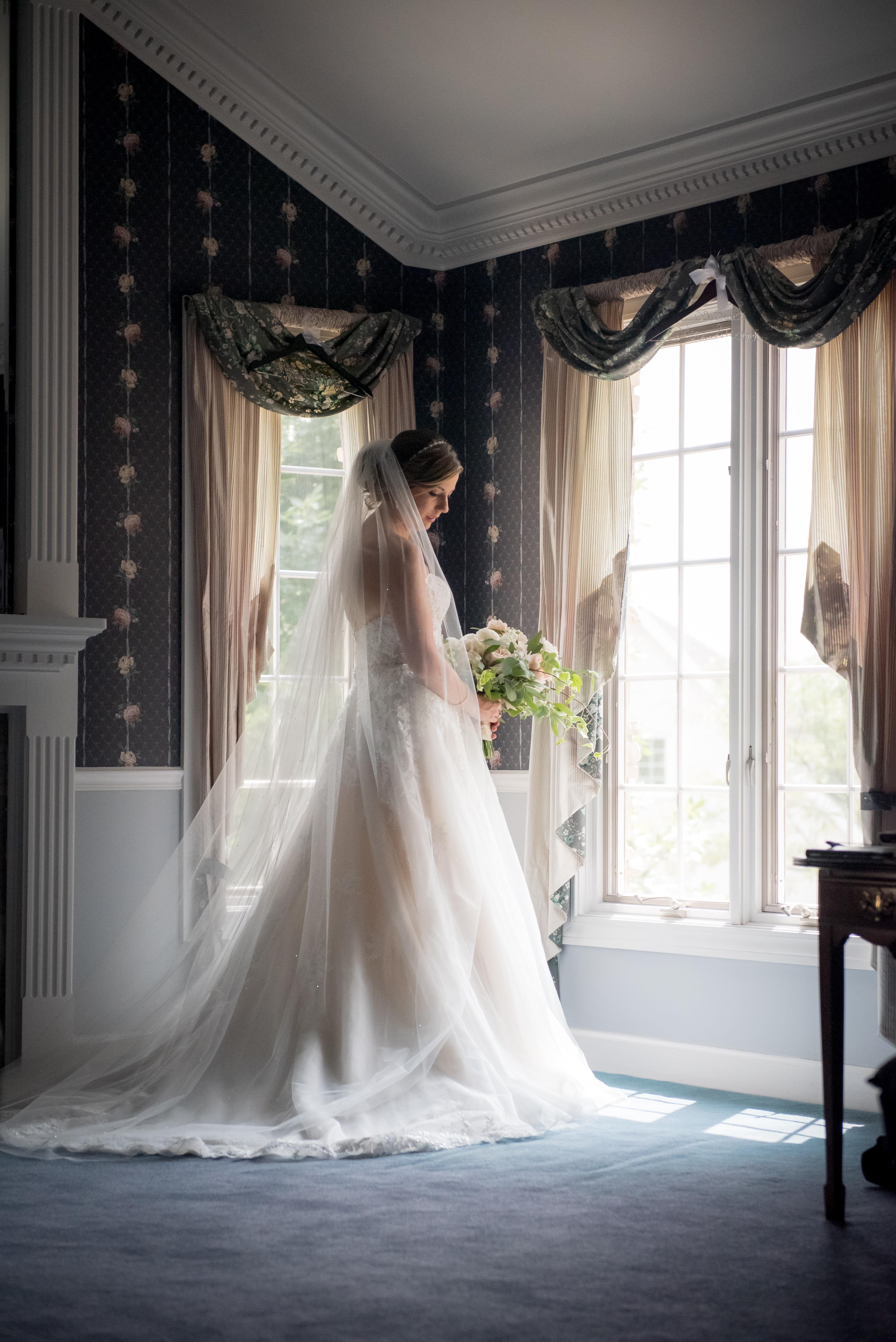 Classic Bride Portrait by Window