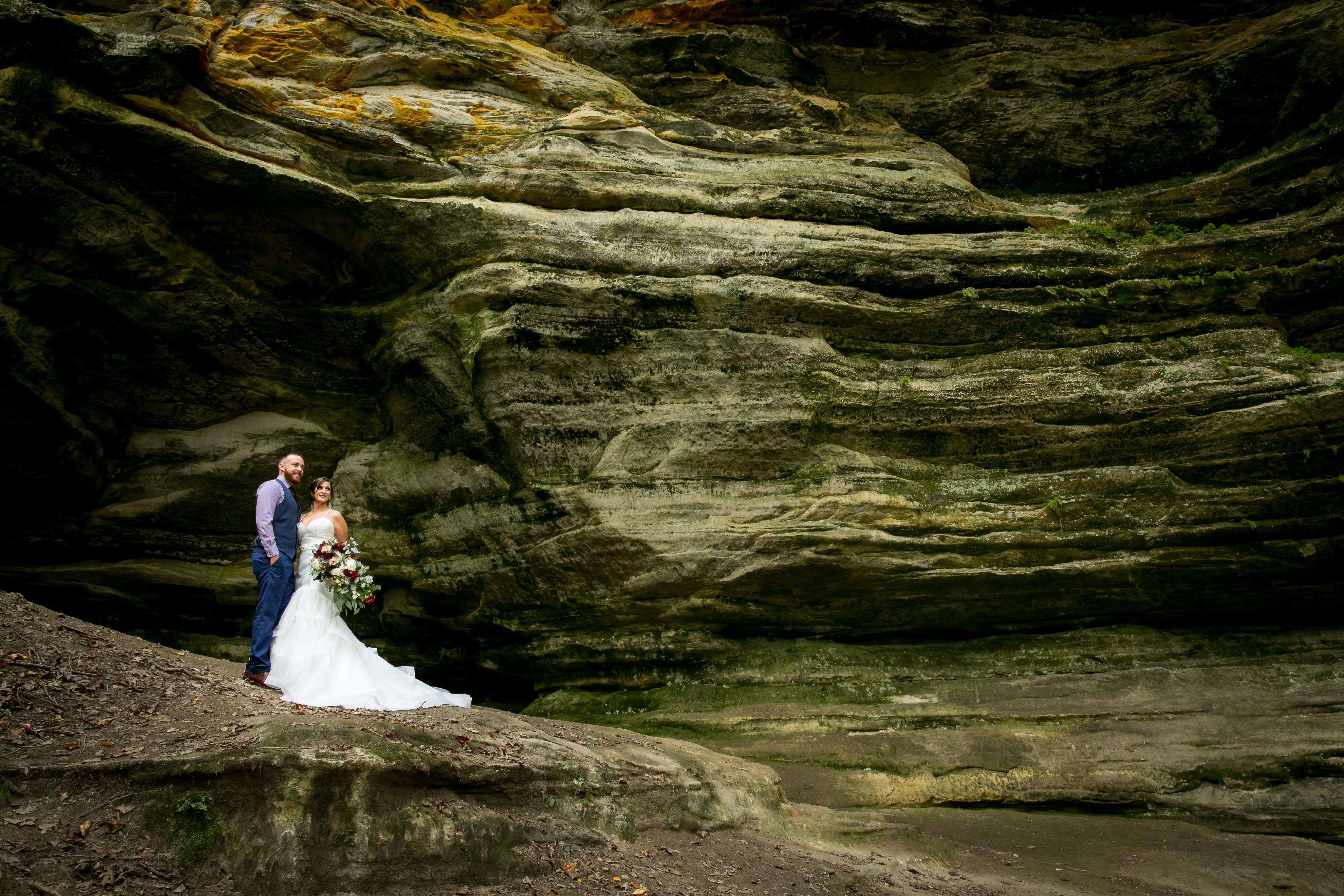 Starved Rock Bride and Groom Portrait