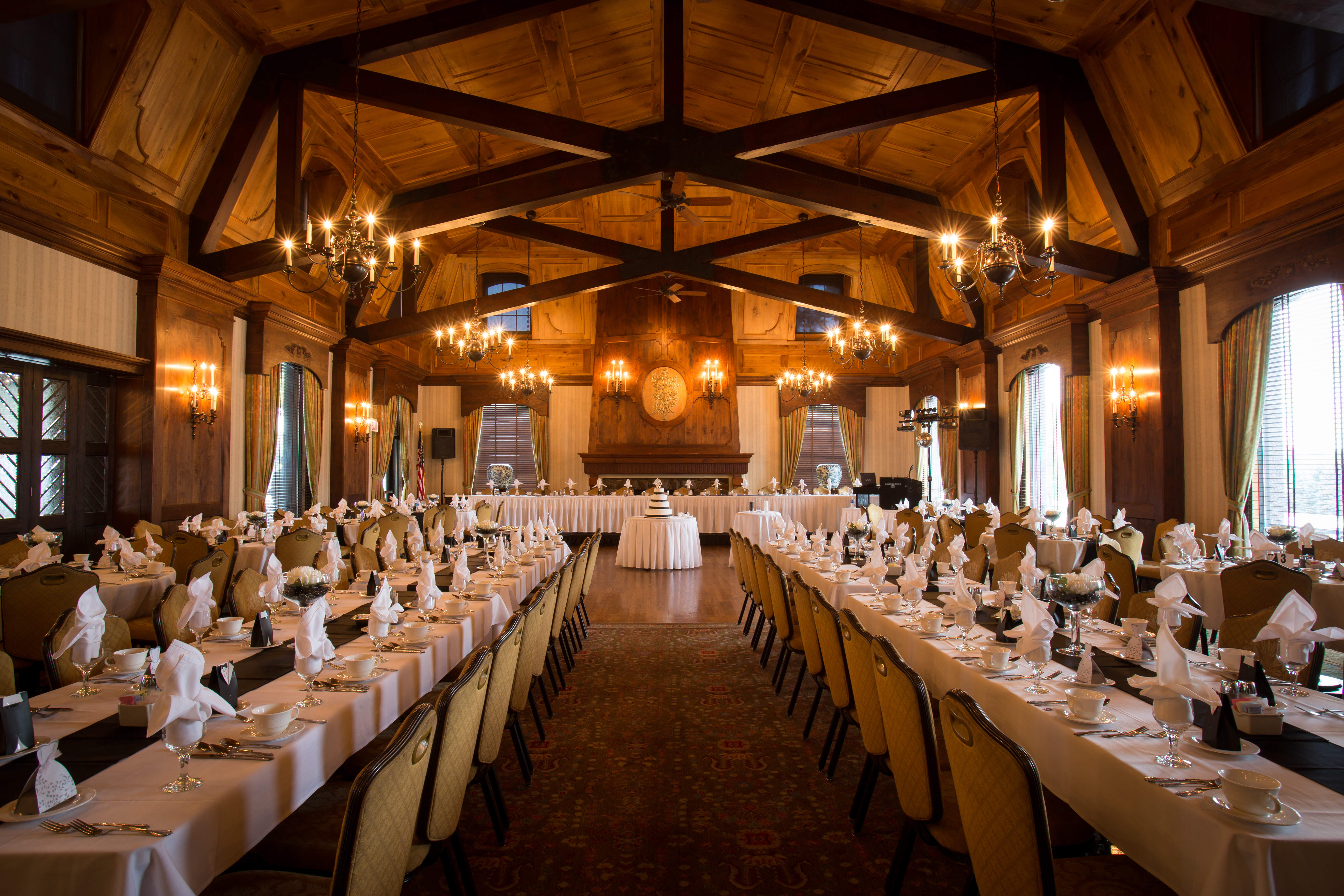 Rustic Wedding Reception Room