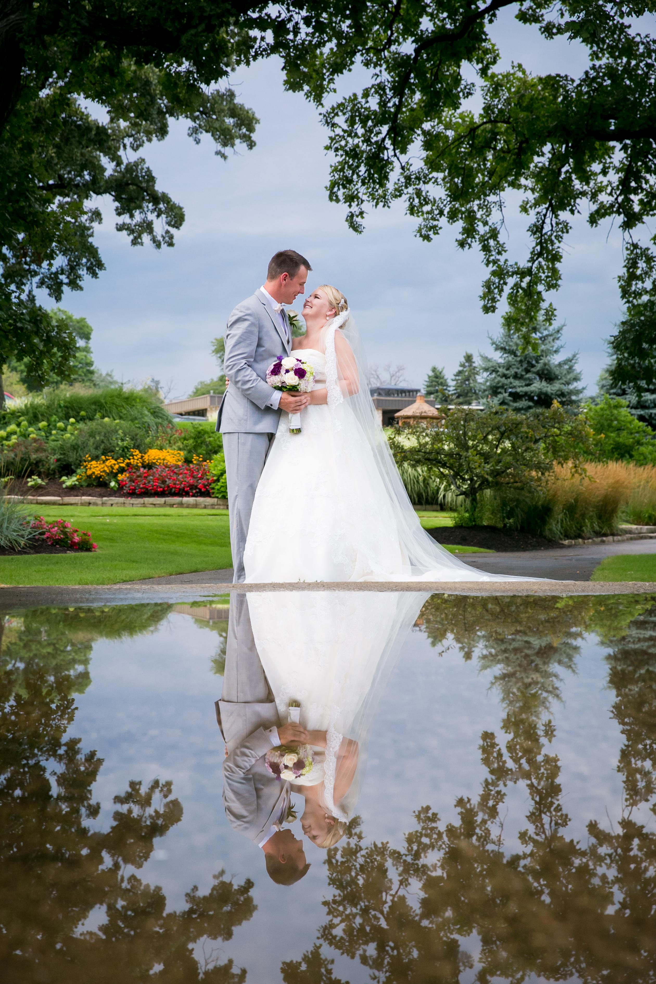 Bride & Groom Reflection