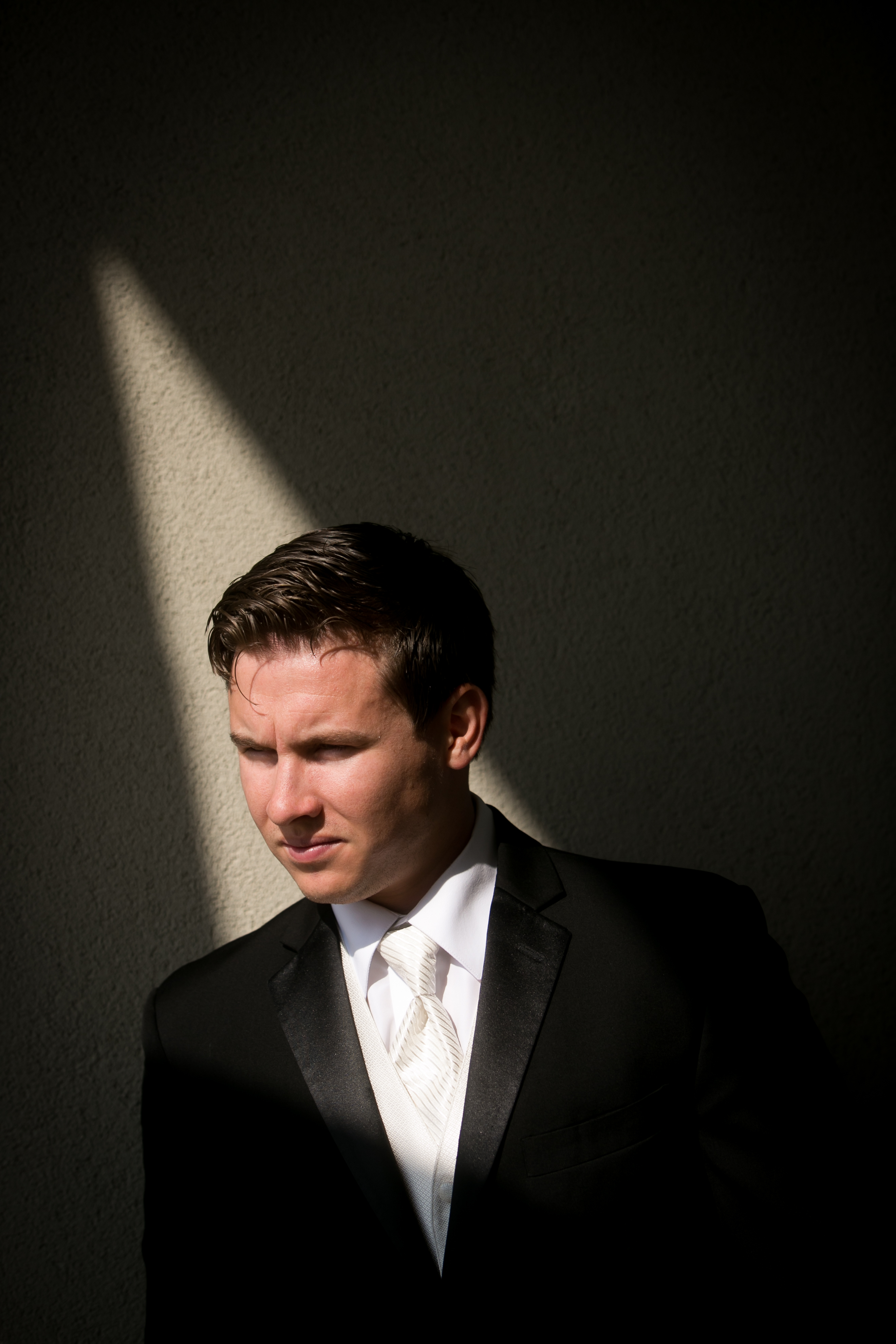 Groom in Light and Shadow
