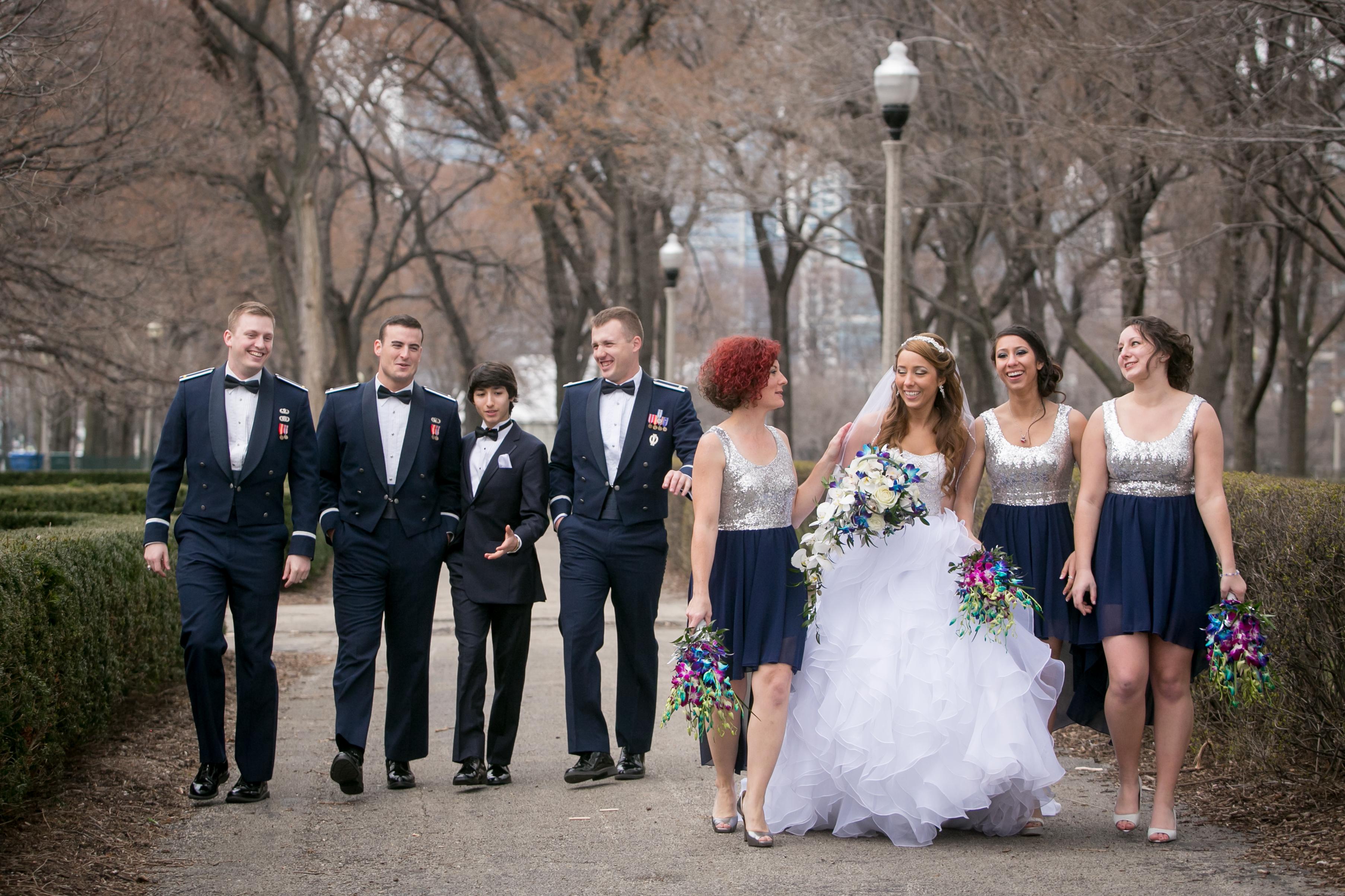 Wedding Party Walking Fun