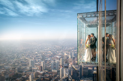 Couple Kisses: Willis Tower Skydeck