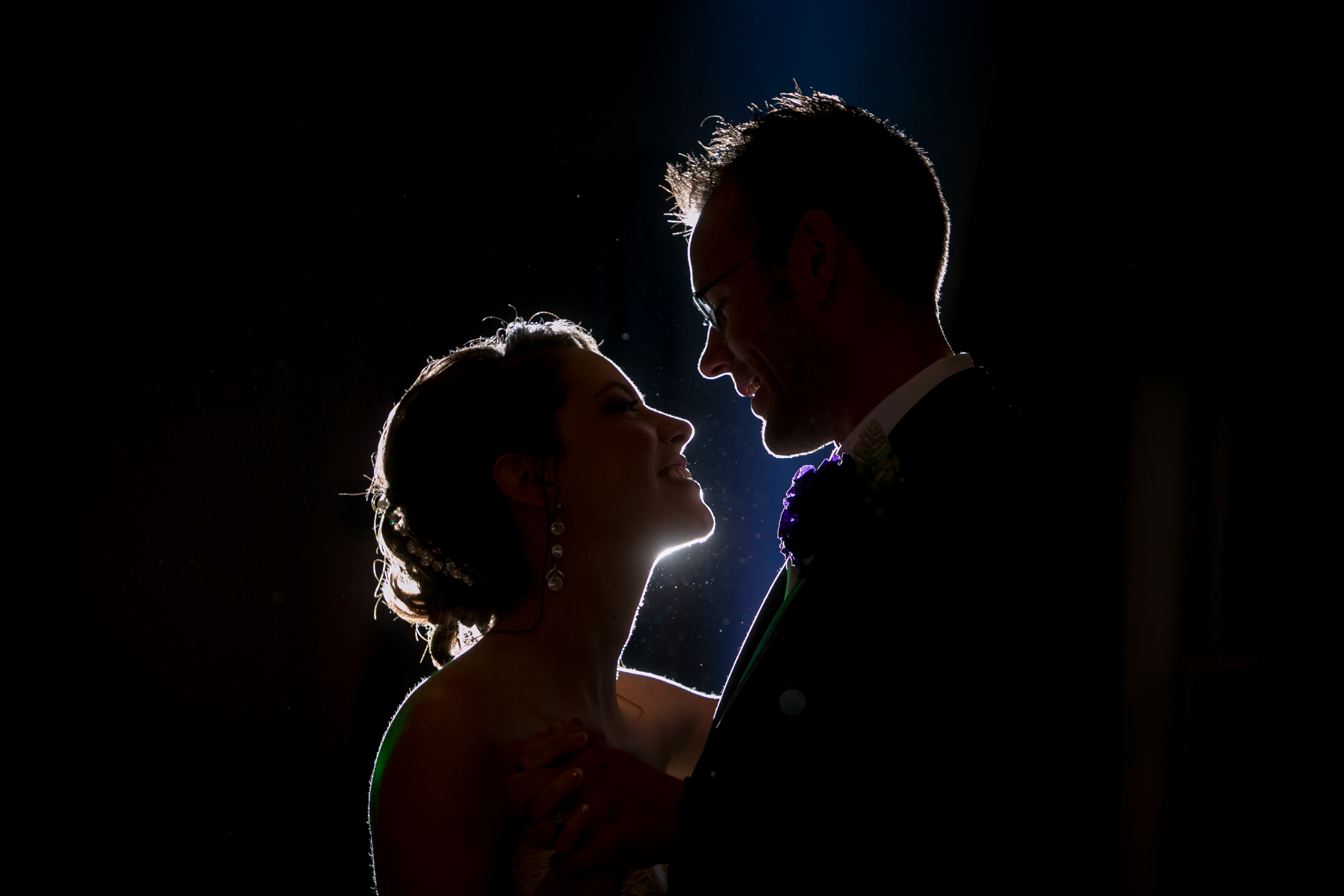 Wedding Portrait: First Dance Silhouette