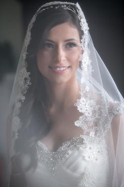 Veil Covering Brides Face