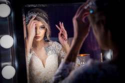 Bride Makes Last Minute Touch Ups