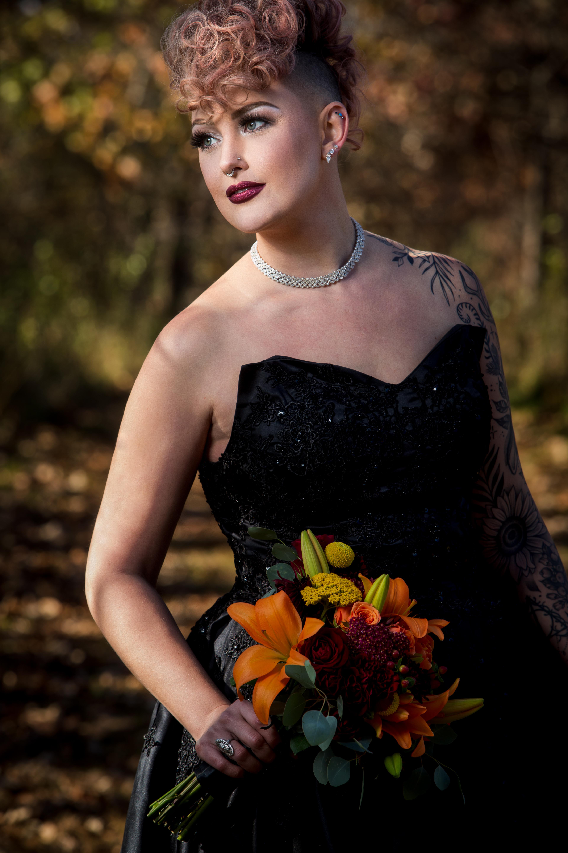 Bride Portrait: Black Dress