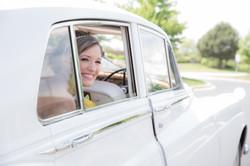 Bride In Old Rolls Royce