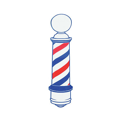 Barber Pole Stick Decal- Double Sided
