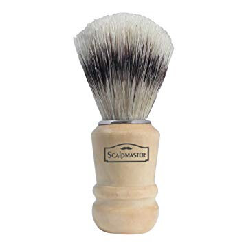 ScalpMaster Wooden Handle Shave Brush