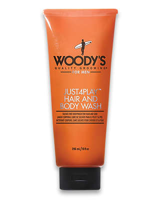 Woody's Just4Play Hair & Body Wash 10 oz