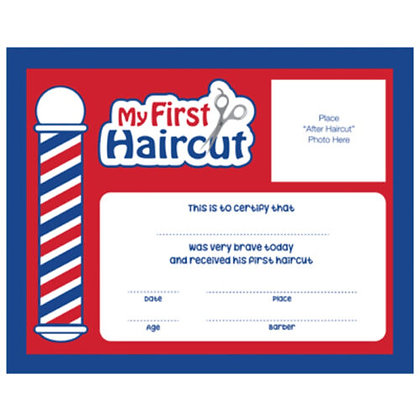 Scalpmaster First Haircut Certificate- 12 Pack